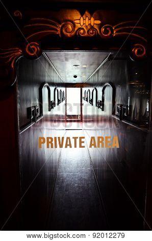 Private Area On Boat