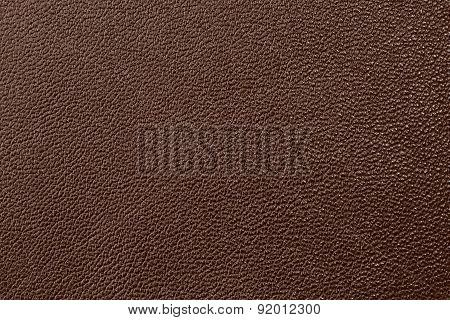 Deep brown leather texture background