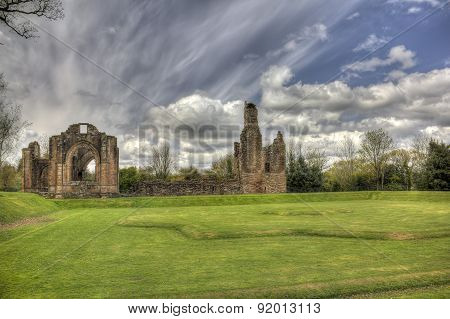 Lincluden Collegiate Church - East View Over Earthworks Hdr