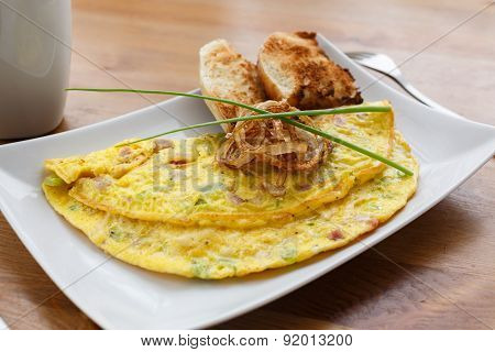 Denver Omelet With Fried Onion