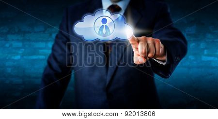 Management Contacting A Male Peer In The Cloud