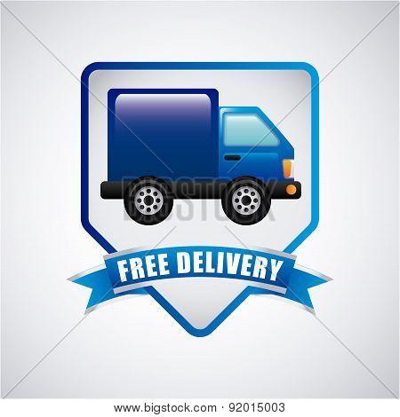 Delivery design over gray background vector illustration