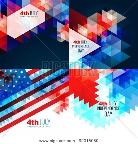 vector american independence day flag design illustration abstract background