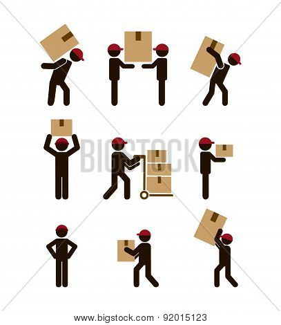 Delivery design over white background vector illustration