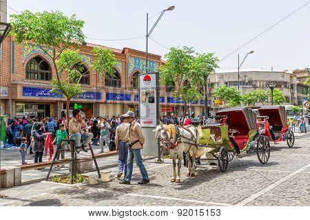 Tehran market carriages
