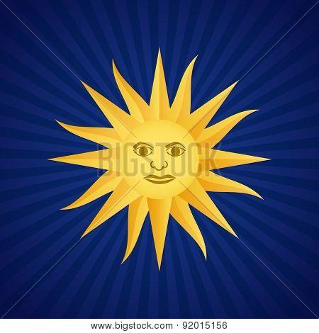 Uruguay design over blue background vector illustration