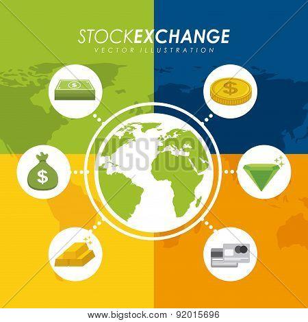 Money design over colorful background vector illustration