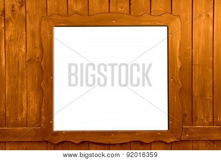 Wooden window isolated as background
