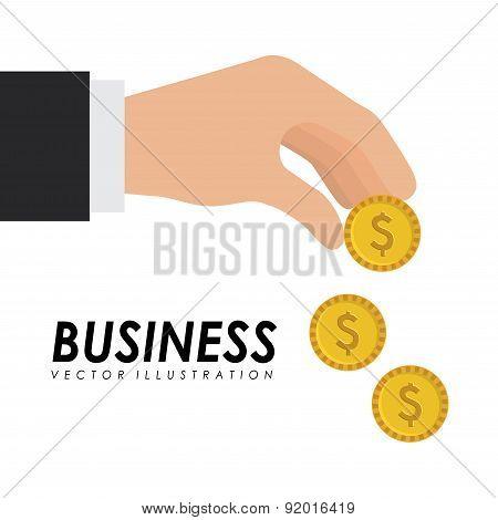 Money design over white background vector illustration