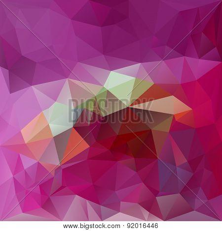 Vector Polygonal Background - Triangular Design In Magenta Colo