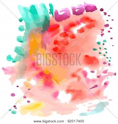 Abstract Fancy Watercolor Background