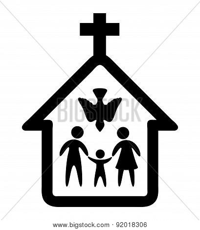 Religion design over white background vector illustration