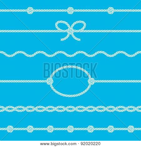 Set Of Rope Borders
