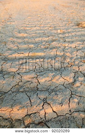 Texture of dry and cracked earth background