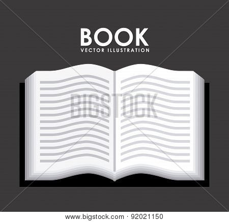 Book design over gray background vector illustration
