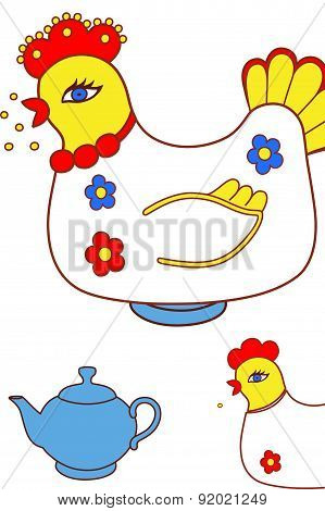 Magic chicken warmer for teapot