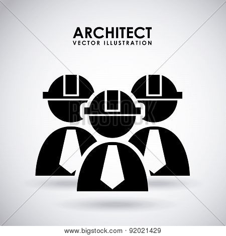 Construction design over gray background vector illustration