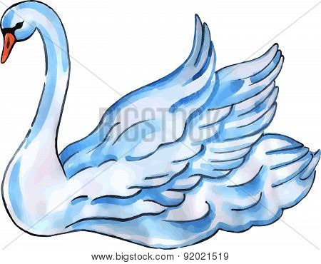 Swan with lift wings