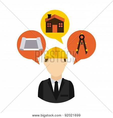 Construction design over white background vector illustration