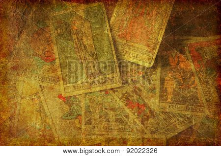 Grunge Tarot Cards Background Textured