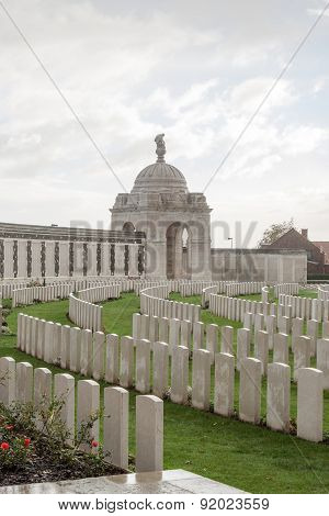 Cemetery Fallen Soldiers In World War I Flanders Belgium