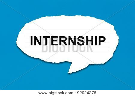 Internship With White Paper Tears
