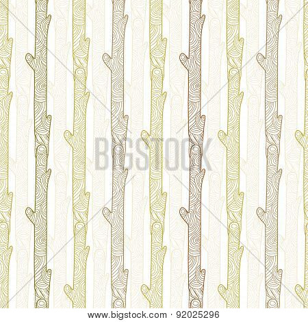 Vector wood logs stripes seamless pattern