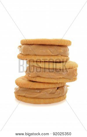 stack peanut butter cracker snacks