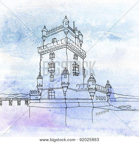 Tower Of St Vincent. Lisbon, Portugal