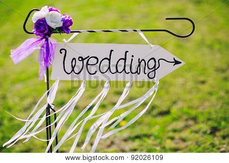 Arrow Labeled Wedding