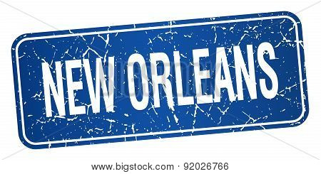 New Orleans Blue Stamp Isolated On White Background