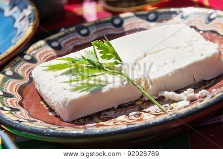 Cheese With Fresh Parsley