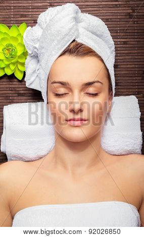 Young Beauty Woman In A Spa