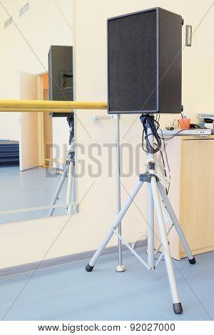 Sound speaker on stand