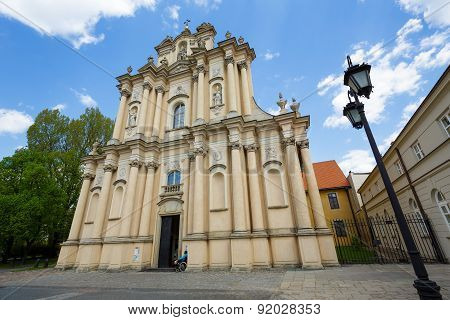 The Church Of Wizytek, Warsaw, Poland