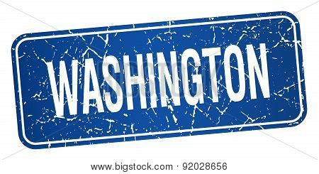 Washington Blue Stamp Isolated On White Background