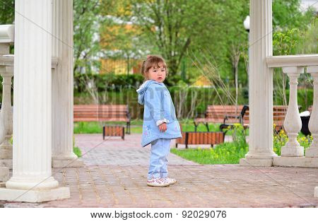 Cute Baby Girl  Outdoors.  2-3 Year Old.