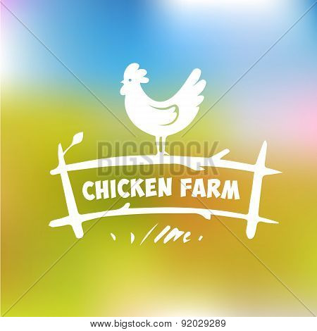 Vector logo. Chicken farm.
