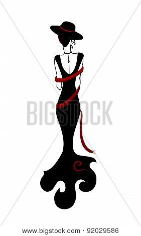 Isolated vector style fashion woman.