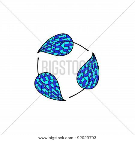Mosaic Leaves Round Logo
