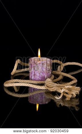 Decoration With Rope And Candle