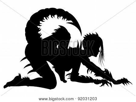 Woman Scorpio Silhouette
