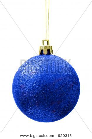 Blue Grainy Shining Christmas Ball