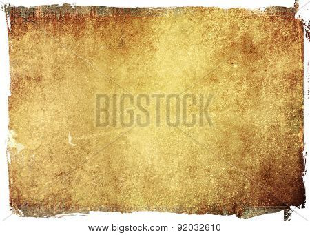 highly Detailed grunge background frame with space