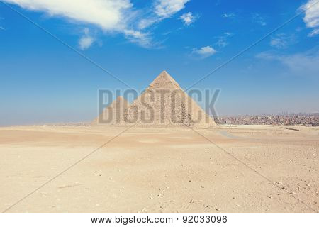 The Pyramids In Egypt, Giza