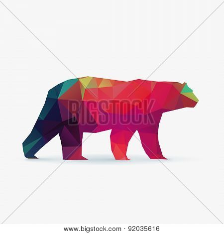 Polar Bear Polygon Silhouette