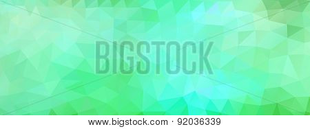 Polygon Background Green And Light Blue, Wide Screen