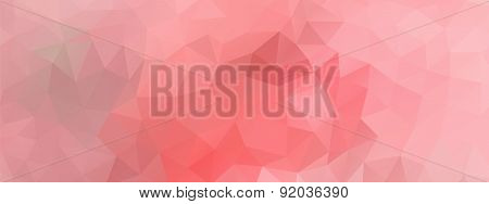 Polygon Background Light Pink, Wide Screen