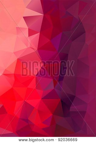 Polygon Background Red And Purple Height