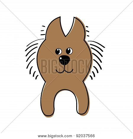 Vector illustration of a dog.